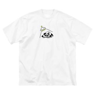 UFOしんどいぜぱぱんちゃん Big silhouette T-shirts