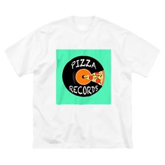 ピザレコード Big silhouette T-shirts