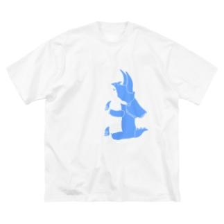 ちょこんとトリケラトプスくん Big silhouette T-shirts