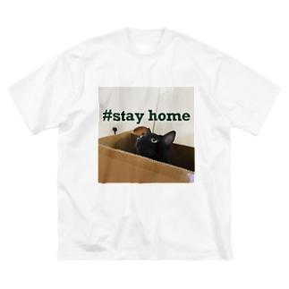 stayhomewithcat Big silhouette T-shirts