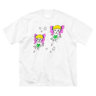 りぼんの妖精 Big silhouette T-shirts