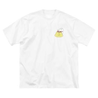 格が違うプリン Big silhouette T-shirts