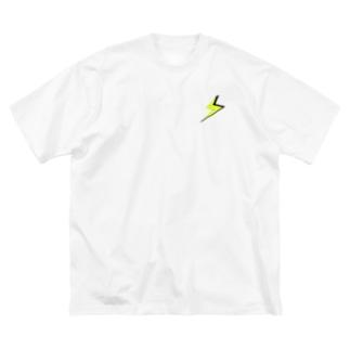 雷 Big silhouette T-shirts