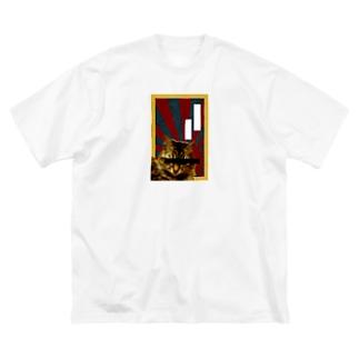 愛国猫 Big silhouette T-shirts