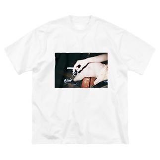『あいつ、おせーな』 Big silhouette T-shirts