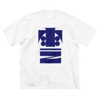 雨乞 Big silhouette T-shirts