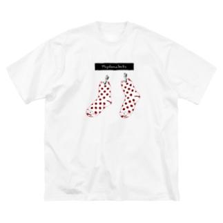 みずたまくつした Big silhouette T-shirts