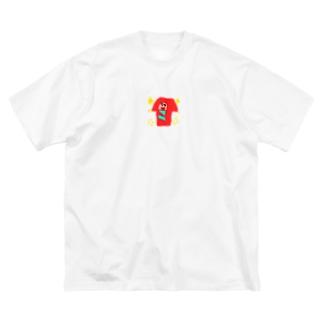 こけし Big silhouette T-shirts