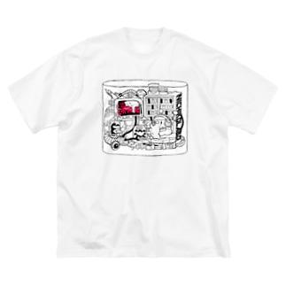 うちでこわそうビッグTシャツ Big silhouette T-shirts