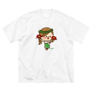 かわいい主婦の1日フラガール1 Big silhouette T-shirts
