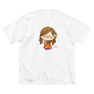 かわいい主婦の1日フラガール3 Big silhouette T-shirts