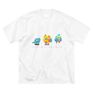 しゅうごう Big silhouette T-shirts