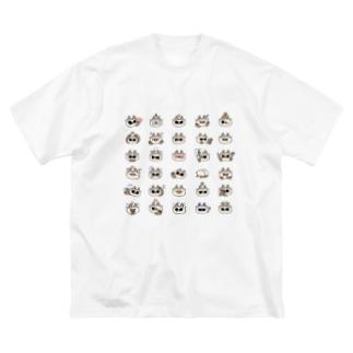 あずきさん百面相 Big silhouette T-shirts
