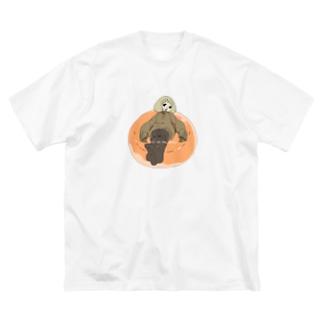 ドーナツの上の少女 Big Silhouette T-Shirt