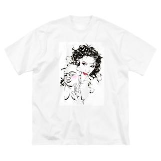 誘惑 Big silhouette T-shirts