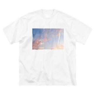 夕焼けの想い出その5 Big silhouette T-shirts