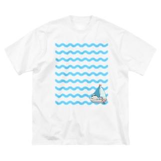 海 Big silhouette T-shirts