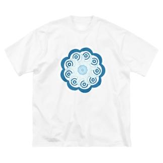 晴天の目 Big silhouette T-shirts