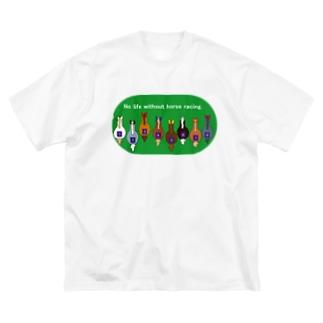 ホースレーシング🐎 Big silhouette T-shirts