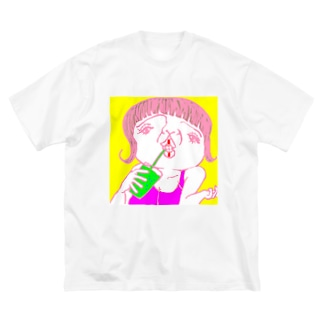 美肌の秘訣 Big silhouette T-shirts