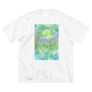 紫陽花いろに染まるころ  Big silhouette T-shirts