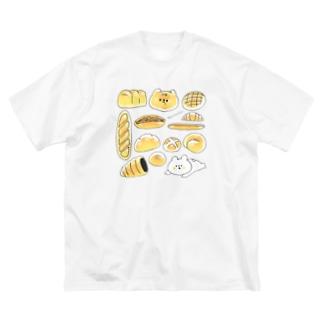 焼きたてパンなおふたりさん Big silhouette T-shirts