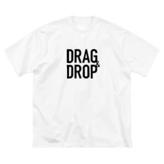 DRAG&DROP Big silhouette T-shirts