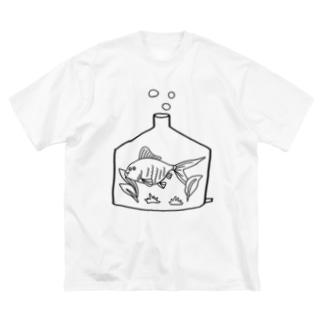 きんぎょ君 Big silhouette T-shirts
