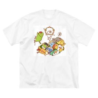 トリとるブランコ Big silhouette T-shirts