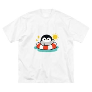 心くばりペンギン 夏ver. Big silhouette T-shirts