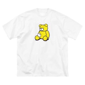 ぬいぐるみとぷりぷりうちゅうじん(くま) Big silhouette T-shirts