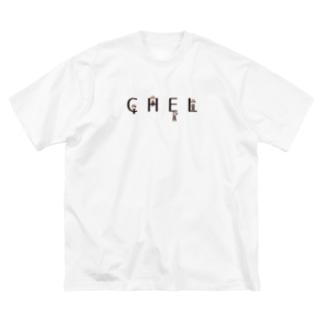 CHELくんオールスター(黒字) Big silhouette T-shirts