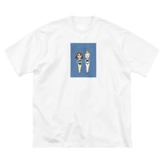 夏の水着の女の子その3 Big silhouette T-shirts