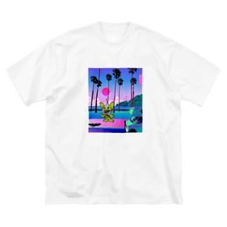 西海岸ハスラーくん Big silhouette T-shirts