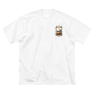 CATCH ME IF YOU CAN -golden- Big silhouette T-shirts