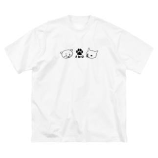 柴INU柴 Big silhouette T-shirts