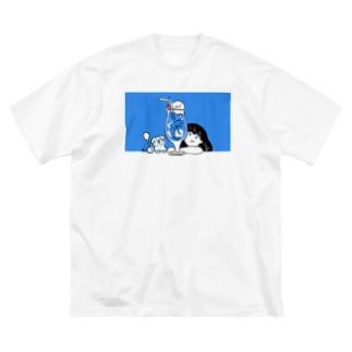 夏だよ Big silhouette T-shirts