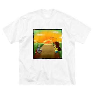 黄昏 Big silhouette T-shirts