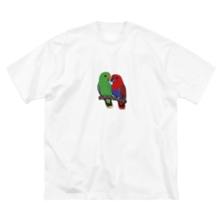 オオハナインコ Big silhouette T-shirts