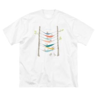 ハンモックキャンプしてるトウネンに混ざるヘラシギ   Big silhouette T-shirts