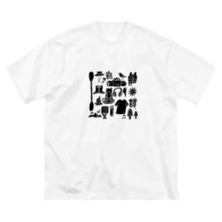 キャンプ大好きじゃろ Big silhouette T-shirts