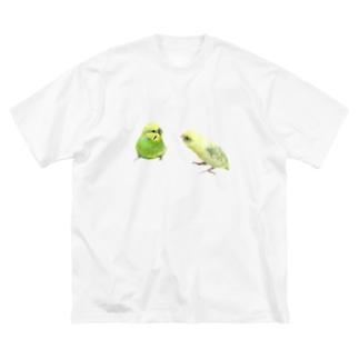ガオガオさんとガオガオちゃん Big silhouette T-shirts