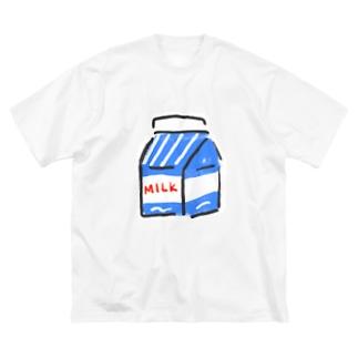 ぎゅにゅたっぷり Big silhouette T-shirts