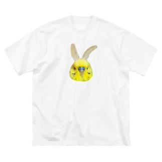 うさちゃんおかゆ Big silhouette T-shirts