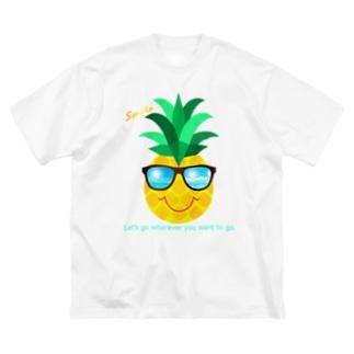 サングラス×パイナップル Big Silhouette T-Shirt