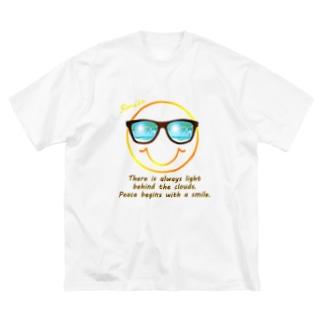 サングラス×スマイル🕶(オレンジ) Big silhouette T-shirts