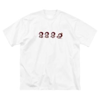 ちびペンギン Big silhouette T-shirts