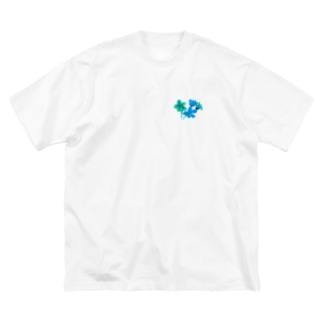 青花ものがたり2 Big silhouette T-shirts