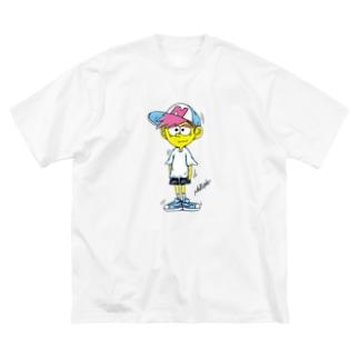 ねるねくん Big silhouette T-shirts