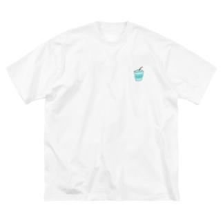 ブルーに染まれ2020 Big silhouette T-shirts